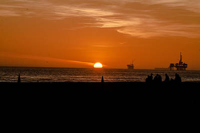 Southern California Sunset Beach Photograph - Sunset by Hyuntae Kim