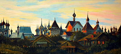 Painting - Sunset In Rostov by Henryk Gorecki