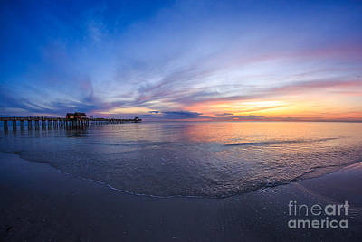 Sunset Naples Beach Florida Art Print