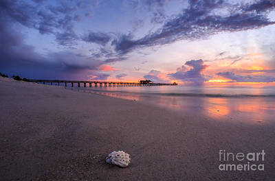Sunset Naples Pier Florida Art Print