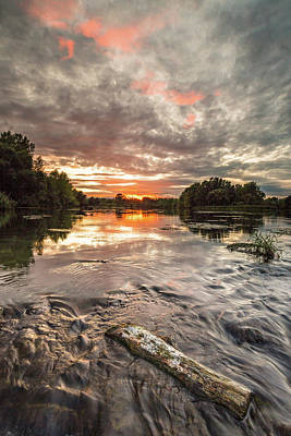 Photograph - Sunset On River by Davorin Mance