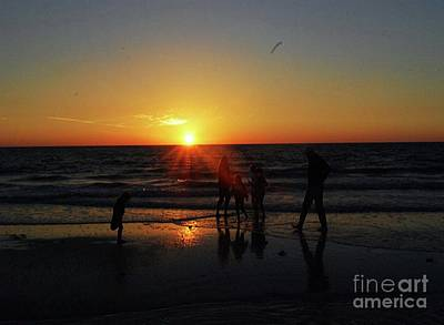 Photograph - Sunset On The Beach by Gary Wonning