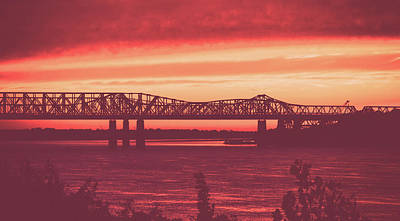 Photograph - Sunset On The Mississippi by Unsplash