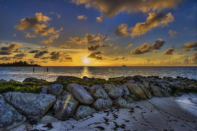 Sunset Over Dickenson Bay  St. John S Art Print