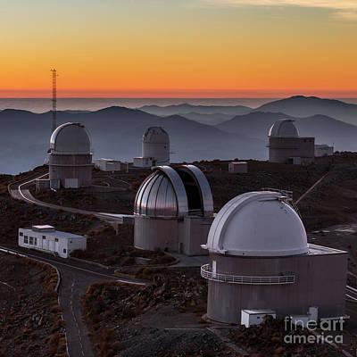Sunset Over The La Silla Observatory Art Print