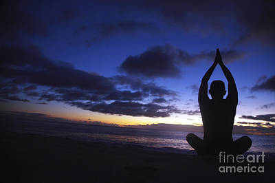 Sunset Yoga Art Print