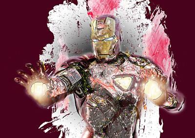 Superhero. Iron Man. Art Print