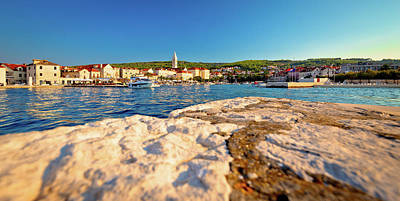 Photograph - Supetar Waterfront View From Sea by Brch Photography