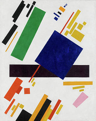 Suprematism Painting - Suprematist Composition by Kazimir Malevich
