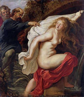 Belgium Painting - Susanna And The Elders by Peter Paul Rubens