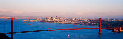Suspension Bridge Across The Bay Art Print by Panoramic Images