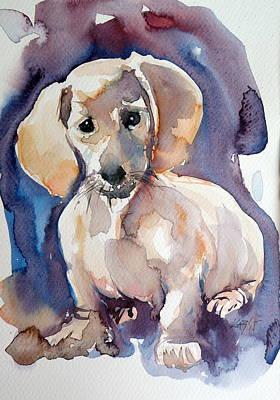 Sweet Dog Art Print by Kovacs Anna Brigitta