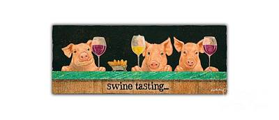 Painting - Swine Tasting... by Will Bullas