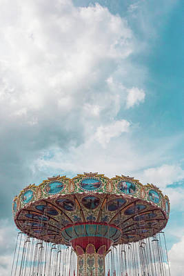 Swings With Stormy Sky Art Print by Erin Cadigan