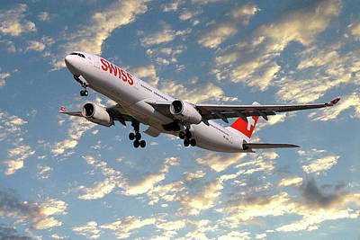 Jet Photograph - Swiss Airbus A330-343 by Smart Aviation