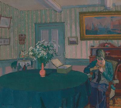 Painting - Sylvia Darning by Treasury Classics Art