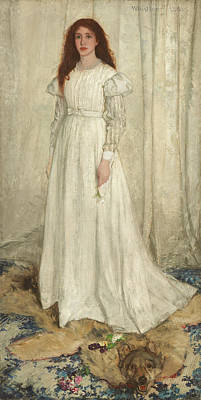 Whistler Painting - Symphony In White, No 1 - The White Girl by James Abbott McNeill Whistler