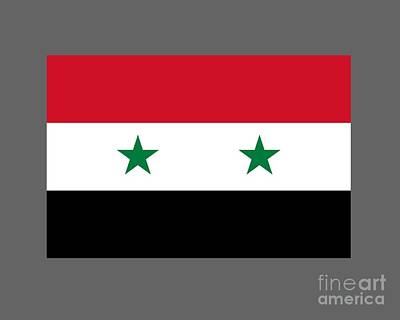 Syria Flag Original by Frederick Holiday