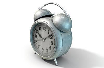 Numbers Digital Art - Table Clock by Allan Swart