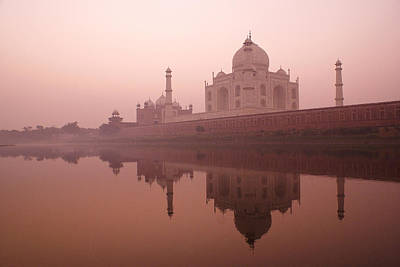 Photograph - Taj Mahal At Dawn by Michele Burgess