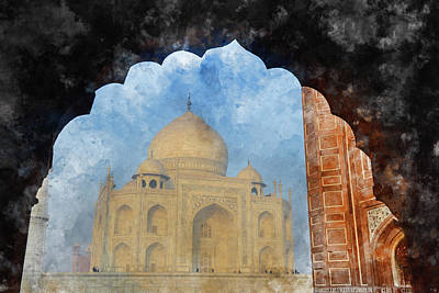 India Photograph - Taj Mahal In India by Brandon Bourdages