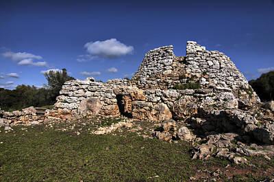 Photograph - Talaior Of Cornia In Menorca Megalithic Monument by Pedro Cardona