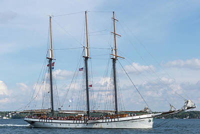 Photograph - Tall Ship On The St. Lawrence by Josef Pittner