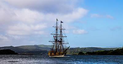Tool Paintings - Tall Ships Coos Bay by Angus Hooper Iii