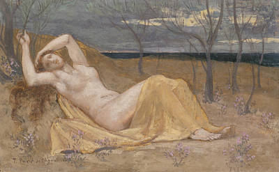 Painting - Tamaris by Pierre Puvis de Chavannes