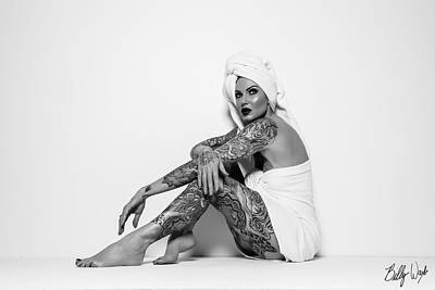 Photograph - Tattoo Towel Series by Billy Ward