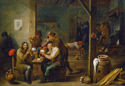 Pipe Painting - Tavern Scene by David Teniers the Younger