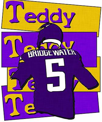 Digital Art - Teddy Bridgewater by Kyle West