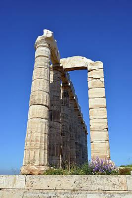 Ancient Photograph - Temple Of Poseidon by George Atsametakis