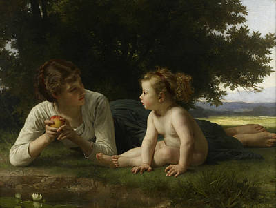 Painting - Temptation by William-Adolphe Bouguereau