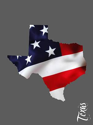 United States Of America Mixed Media - Texas State Map Collection by Marvin Blaine