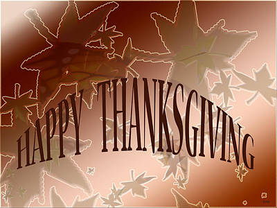 Thanksgiving Card Art Print by Debra     Vatalaro