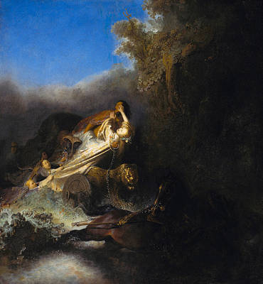 Myths Painting - The Abduction Of Proserpina by Rembrandt van Rijn