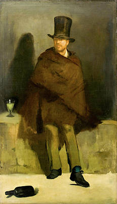 Absinthe Painting - The Absinthe Drinker by Edouard Manet