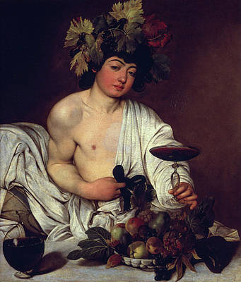 Scenes Of Italy Painting - The Adolescent Bacchus by Caravaggio