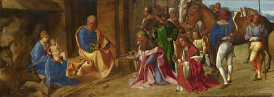 Baby Painting - The Adoration Of The Kings by Giorgione