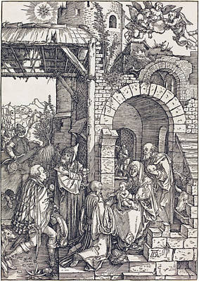 Drawing - The Adoration Of The Magi by Albrecht Durer