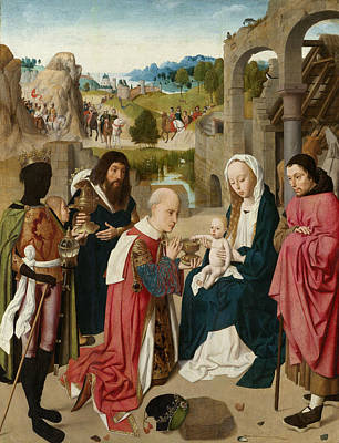 Christ Child Painting - The Adoration Of The Magi by Geertgen Tot Sint Jans