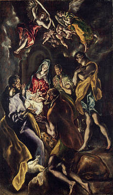 Greek Painting - The Adoration Of The Shepherds by El Greco
