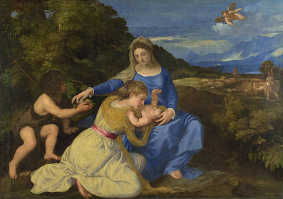 Baby Painting - The Aldobrandini Madonna by Titian
