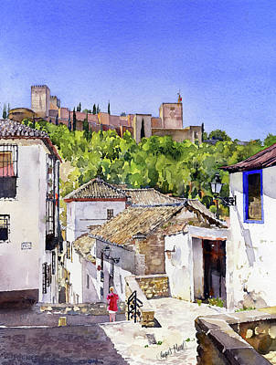 Painting - The Alhambra From The Albaicin by Margaret Merry