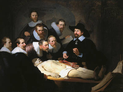 Doctor Painting - The Anatomy Lesson Of Dr. Nicolaes Tulp by Rembrandt van Rijn