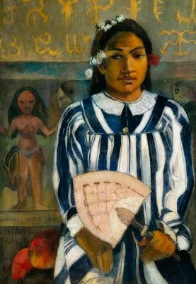 Ancestors Painting - The Ancestors Of Tehamana by Paul Gauguin