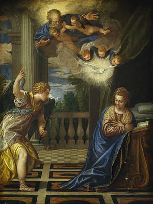 Renaissance Painting - The Annunciation by Paolo Veronese