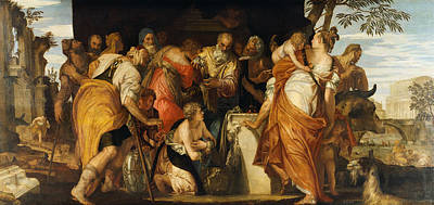 Veronese Painting - The Anointment Of David by Paolo Veronese