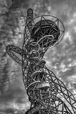 Photograph - The Arcelormittal Orbit Monochrome by David Pyatt